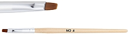 Духи, Парфюмерия, косметика Деревянная кисть для геля №4 - NeoNail Professional