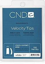 Духи, Парфюмерия, косметика Типсы белые с микроконтактной зоной - CND White Velocity Tips