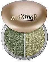 Духи, Парфюмерия, косметика Рассыпчатые тени для век - MaxMar Duo Eyeshadow