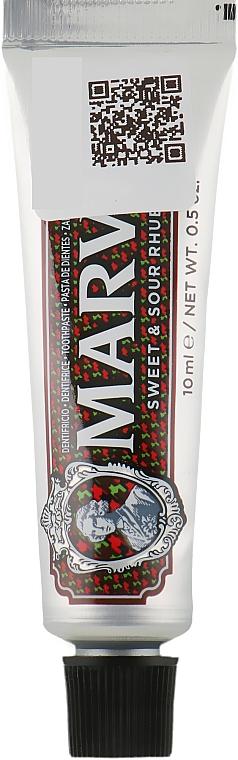 """Зубная паста """"Кисло-сладкий ревень"""" - Marvis Sweet & Sour Rhubarb (мини)"""