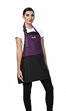 Духи, Парфюмерия, косметика Короткий фартук, фиолетовый с черными вставками, белый логотип - Kodi Professional