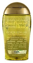 Духи, Парфюмерия, косметика Масло для волос - OGX Sunflower Shimmering Blonde Penetrating Oil