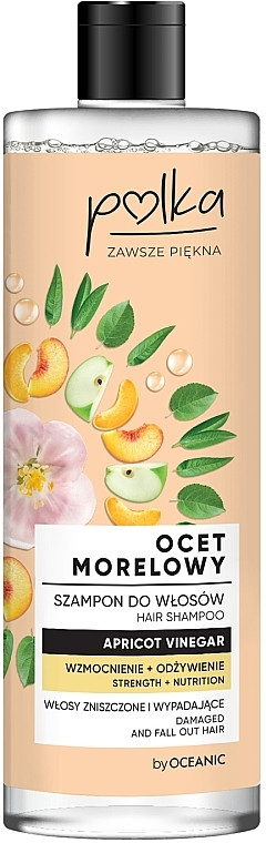 Шампунь для волос «Абрикосовый уксус» - Polka Apricot Vinegar Shampoo