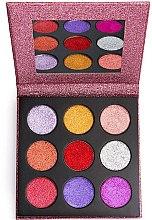 Духи, Парфюмерия, косметика Палетка глиттеров - Makeup Revolution Pressed Glitter Palette Diva