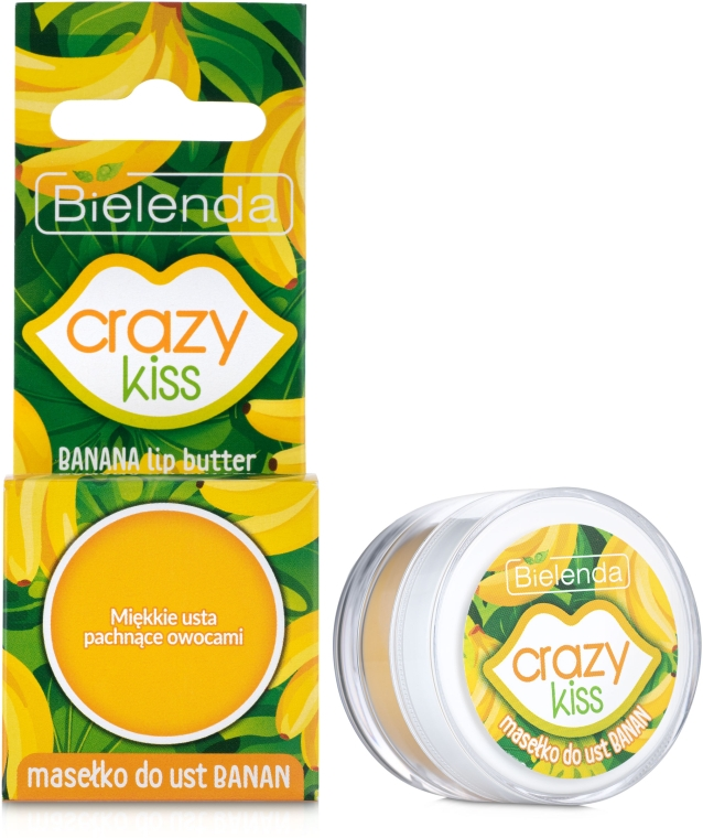 "Масло для губ ""Банан"" - Bielenda Crazy Kiss Lip Butter Banana"