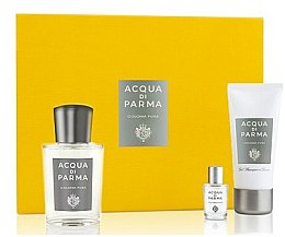 Духи, Парфюмерия, косметика Acqua Di Parma Colonia Pura - Набор (edc/100ml + edc/5ml + sh/gel/50ml)