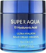 Духи, Парфюмерия, косметика Увлажняющий крем-бальзам для лица - Missha Super Aqua Ultra Hyalron Balm Cream Original