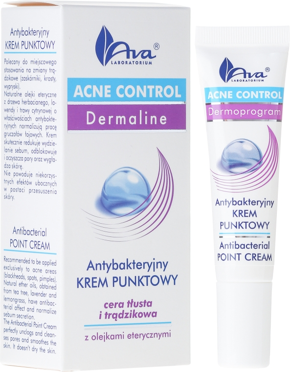 Антибактериальный крем локального действия - Ava Laboratorium Acne Control Antibacterial Point Cream