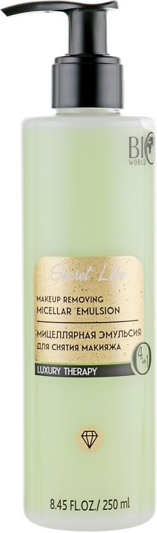 Мицеллярная эмульсия для снятия макияжа - Bio World Secret Life Luxury Therapy Makeup Removing Micellar Emullsion