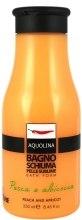Духи, Парфюмерия, косметика Пенка для ванн - Aquolina Bath Foam Peach & Apricot