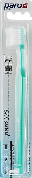 "Зубная щетка ""S39"", зеленая - Paro Swiss Toothbrush"