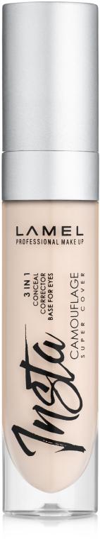Жидкий консилер для лица - Lamel Professional Insta Camouflage Conceal 3in1