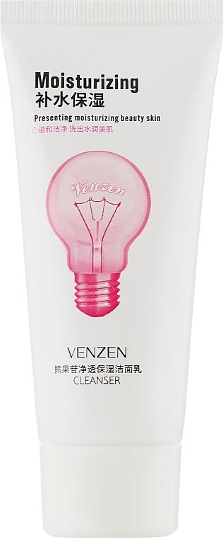 Осветляющая пенка для умывания с арбутином и маслом шиповника - Venzen Arbutin Clear Moisturizing Cleanser — фото N1