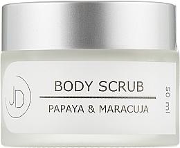 Духи, Парфюмерия, косметика Крем-скраб для тела - JD Candle Cream Papaya & Maracuja Body Scrub Cream