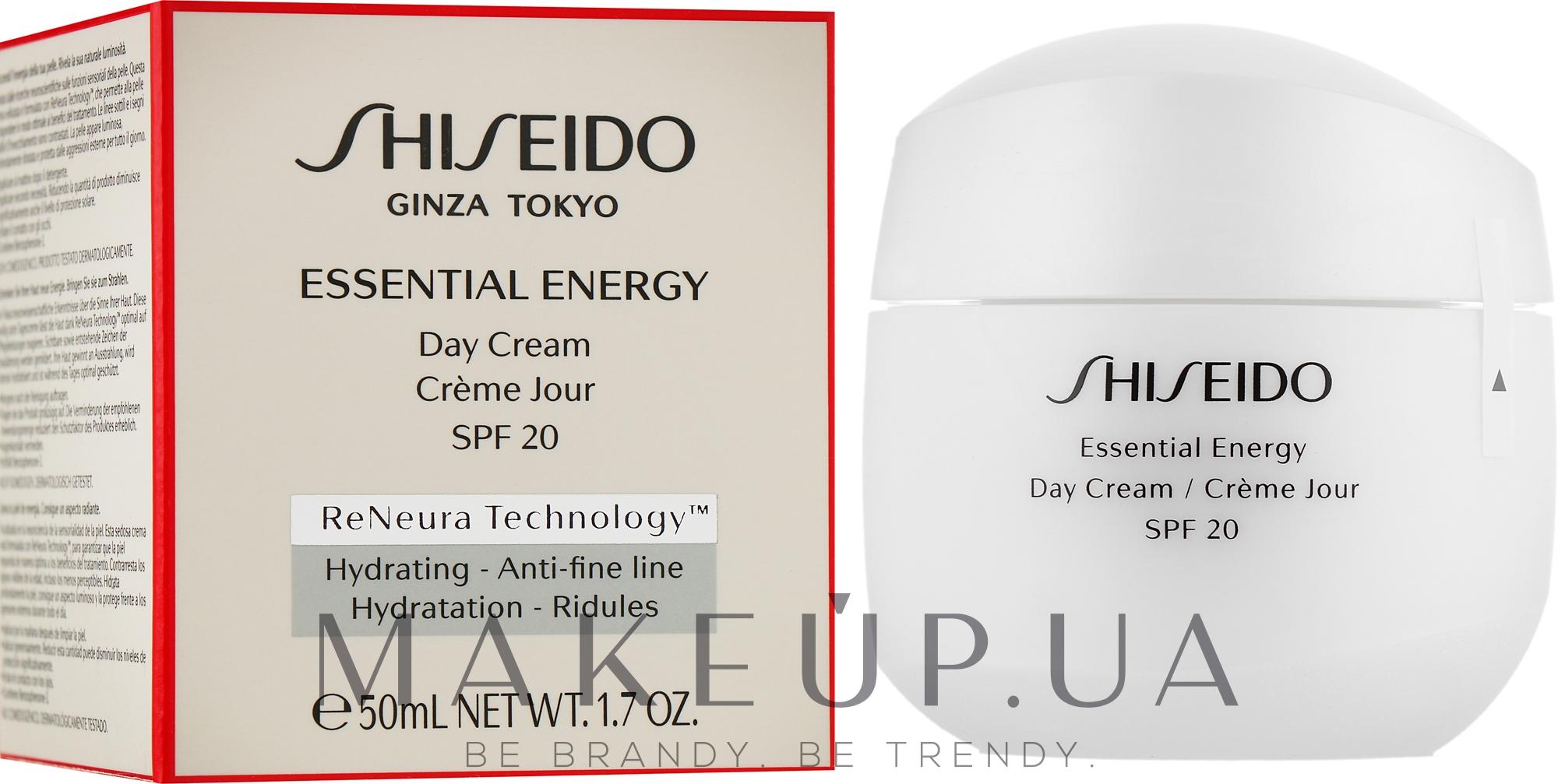 Дневной энергетический крем для лица - Shiseido Essential Energy Day Cream SPF20  — фото 50ml