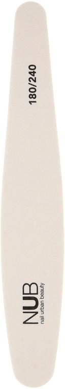 Пилка-шлифовщик для натуральных ногтей, 180/240 - NUB