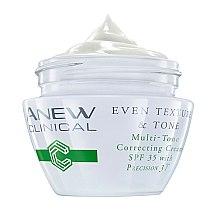 Духи, Парфюмерия, косметика Крем выравнивающий тон кожи SPF 35 - Avon Anew Clinical Even Texture & Tone Multi-Tone Correcting Cream SPF 35