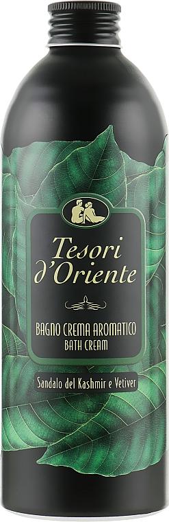 Гель-пена для ванны - Tesori d`Oriente Sandalo del Kashmir & Vetiver Bath Cream