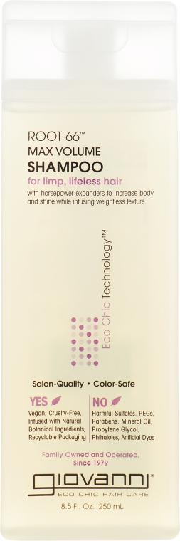 "Шампунь ""Рут 66 Максимальный объем"" - Giovanni Eco Chic Hair Care Root 66 Max Volume Shampoo"