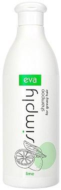 Шампунь для жирных волос с экстрактом лайма - Eva Simply Shampoo