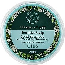 Духи, Парфюмерия, косметика Твердый шампунь для чувствительной кожи головы - Fresh Line Botanical Hair Remedies Sensitive Scalp Cleo