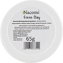 "Глиняная маска для лица ""Зеленая глина"" - Nacomi Green Clay — фото N2"