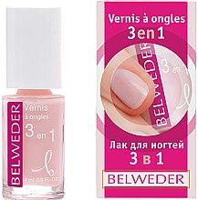 Парфумерія, косметика Лак для нігтів 3 в 1 - Belweder