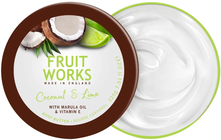 "Масло для тела ""Кокос и лайм"" - Grace Cole Fruit Works Body Butter Coconut & Lime"