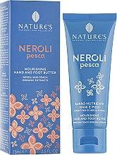 Парфумерія, косметика Крем для рук і ніг живильний з екстрактами органічних неролей і персика - Nature's Neroli Hand & Foot Cream