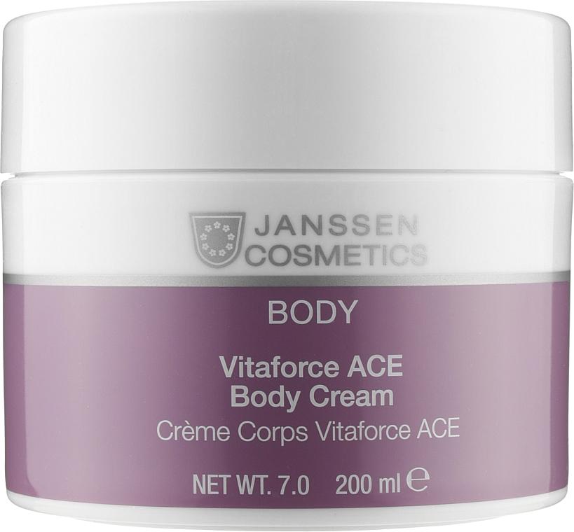 Насичений крем з вітамінами А, С, Е для тіла  - Janssen Cosmetics Vitaforce ACE Body Cream — фото N1