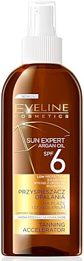 Ускоритель загара - Eveline Sun Expert Argan Oil Tanning Accelerator SPF6 — фото N1