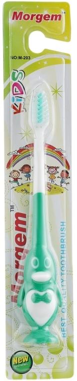 """Зубная щетка """"Kids"""" мягкая, M-203 зеленая - Morgem"""