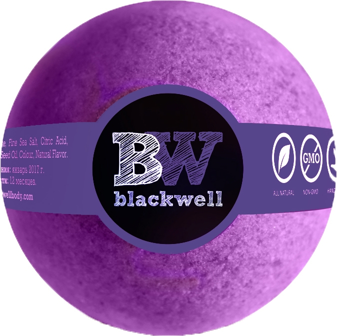 "Бомбочка для ванны ""Фиолетовый коктейль"" - Blackwell Bath Bomb Purple Cocktail"
