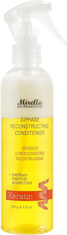 Двухфазный кондиционер для поврежденных волос с термозащитой - Mirella Hair 2-phase Conditioner