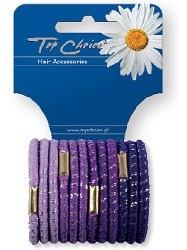 Резинки для волос 12 шт, сиреневые, 21312 - Top Choice — фото N1