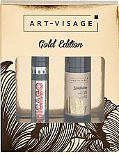 Духи, Парфюмерия, косметика Набор - Art-Visage Gold Edition (mascara/7ml + makeup/base/20ml)
