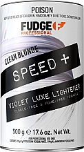 Духи, Парфюмерия, косметика Обесцвечивающая пудра для волос - Fudge Clean Blonde Speed+ Bleach Violet Luxe Lightener