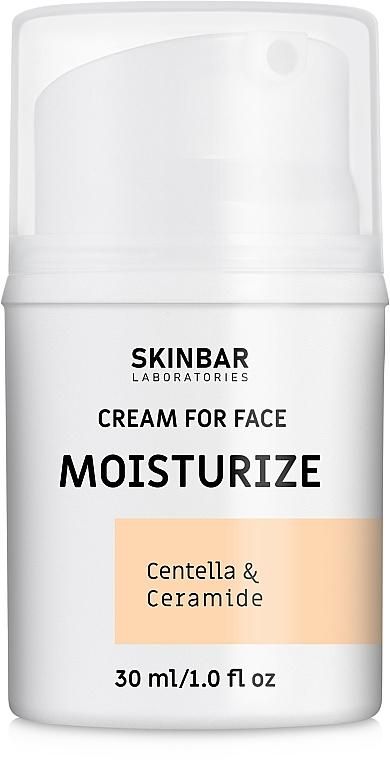 """Крем для лица увлажняющий, ночной """"Moisturize"""" - SKINBAR Centella & Ceramide Face Cream"""
