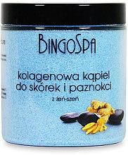 Духи, Парфюмерия, косметика Соль для ногтей и кутикул с коллагеном и женьшенем - BingoSpa Collagen Bath For Cuticles And Nails With Ginseng