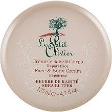 Духи, Парфюмерия, косметика Крем для лица и тела - Le Petit Olivier Shea Butter Face And Body Cream Repairing