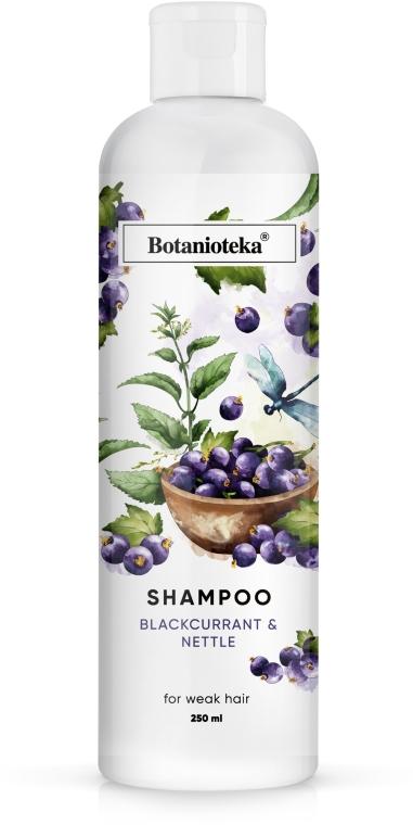 """Шампунь для ослабленных волос """"Черная смородина и крапива"""" - Botanioteka Shampoo For Weak Hair"""