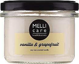 "Духи, Парфюмерия, косметика Ароматическая свеча ""Ваниль и грейпфрут"" - Melli Care Vanilla & Grapefruit Soy Wax Scented Candle"