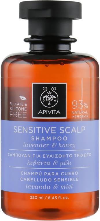 Шампунь для чувствительной кожи головы с лавандой и медом - Apivita Sensitive Scalp Shampoo With Lavender & Honey