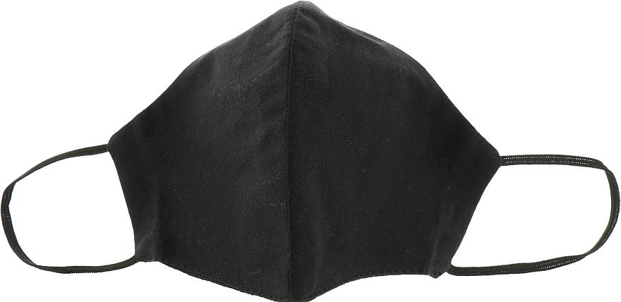 Маска тканевая-защитная для лица, черная, размер М - Gioia