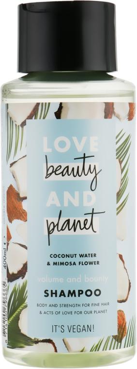 """Шампунь для волос """"Объем и щедрость"""" - Love Beauty&Planet Coconat Water & Mimosa Flower"""