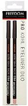 Духи, Парфюмерия, косметика Набор карандашей для глаз - Freedom Makeup London Pro Kohl Liner and Brighten Duo