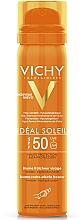 Духи, Парфюмерия, косметика Сонцезащитный невидимый освежающий спрей для кожи лица, SPF50 - Vichi Ideal Soleil SPF50