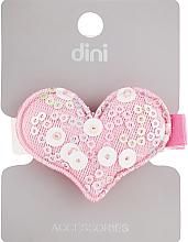 "Духи, Парфюмерия, косметика Заколка для волос ""Сердце с пайетками"", d-092, розовая - Dini Style"