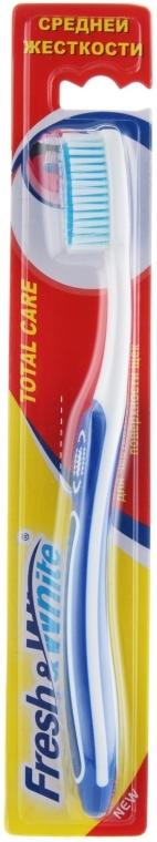 Зубная щетка, средней жесткости, синяя - Meggi Fresh&White Total Care