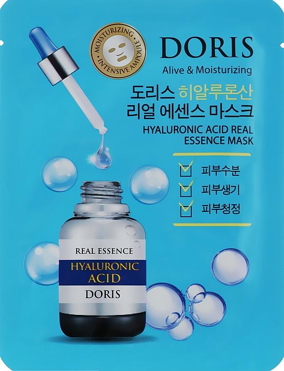 Ампульная маска для лица с гиалуроновой кислотой - Doris Hyaluronic Acid Real Essence Mask